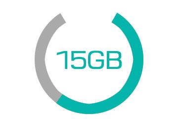 15GBグラフ