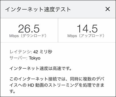 Galaxy 5G Mobile Wi-Fiの通信速度(2021年6月4日 16時頃)