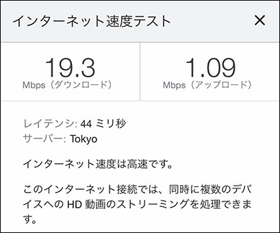 Galaxy 5G Mobile Wi-Fiの通信速度(2021年6月8日 14時頃)