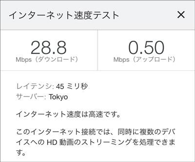Speed Wi-Fi HOME 5G L11 2021年7月6日9時頃の通信速度