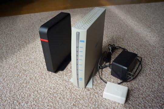 ADSLで使っていたモデム・スプリッタ―・ルーター