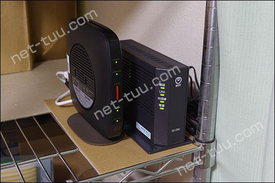 ビッグローブ光 工事【ONUと無線LANルーターの設置場所】