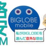 私がBIGLOBEモバイルを選んだ意外な理由と5つの注意点