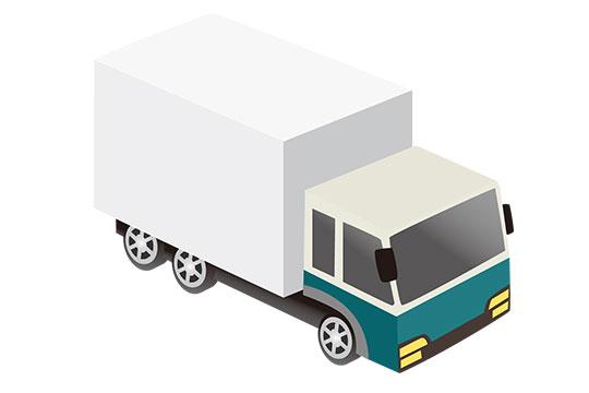 宅配トラック イラスト