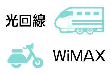 光回線とWiMAXの通信速度のイメージ