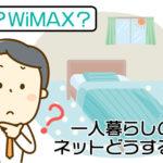 一人暮らしのネット回線「WiMAXか光回線」で悩んでる方必見の全知識