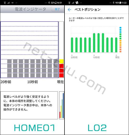 HOME01とL02のアンテナ感度の違い