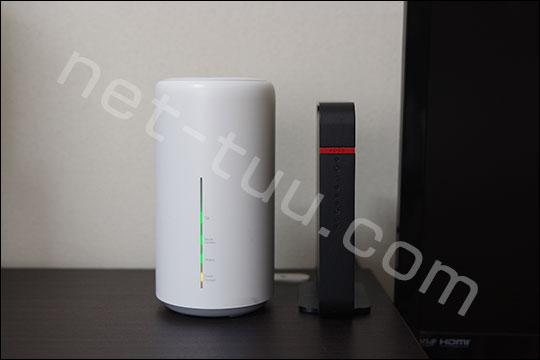 L02と無線LANルーターのサイズ比較