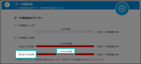L11 マイページの通信量カウンター