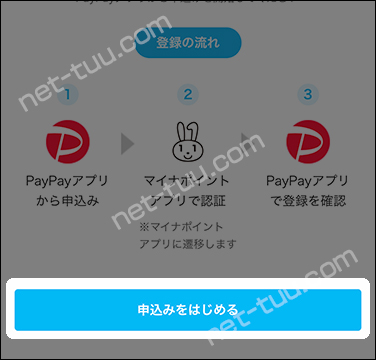 PayPayアプリ 申込みをはじめる