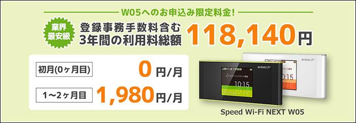 novas WiMAX W05キャンペーン スクリーンショット