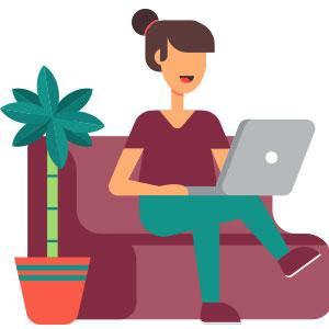 パソコンを使ってる人 イラスト