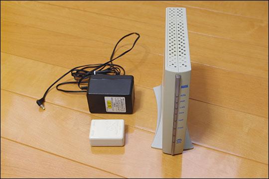 ADSLのレンタル機器