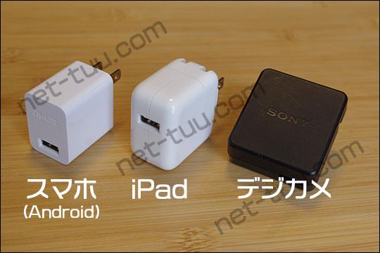 USB充電器の写真