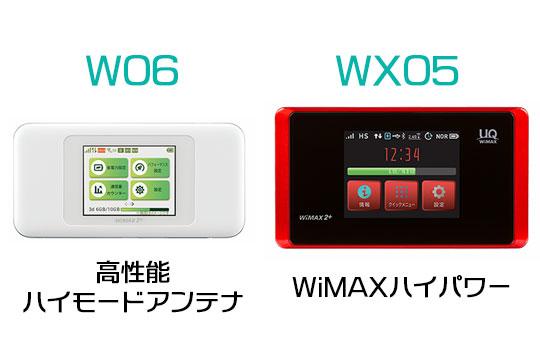 W06 WX05 つながりやすさ機能