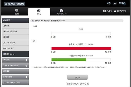 L02 通信量管理画面