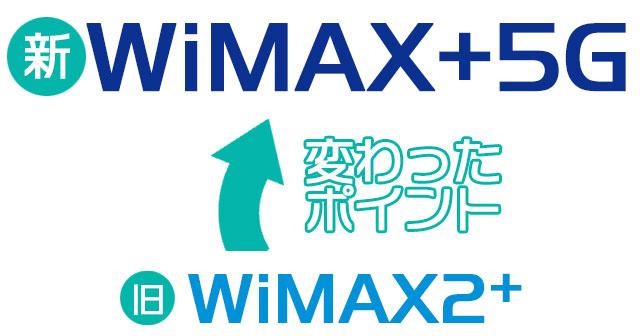 WiMAX+5Gで変わったポイント