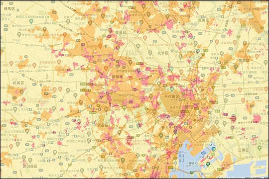 WiMAX+5G エリアマップ 東京都