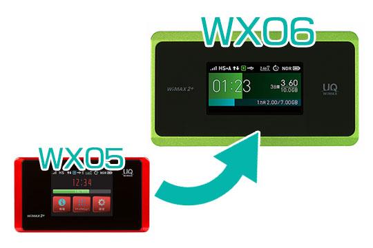 WX05からWX06への進化