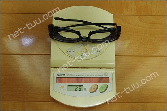 Zoff+集中メガネの重さ