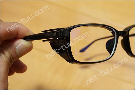 Zoff+集中メガネ 黒の質感